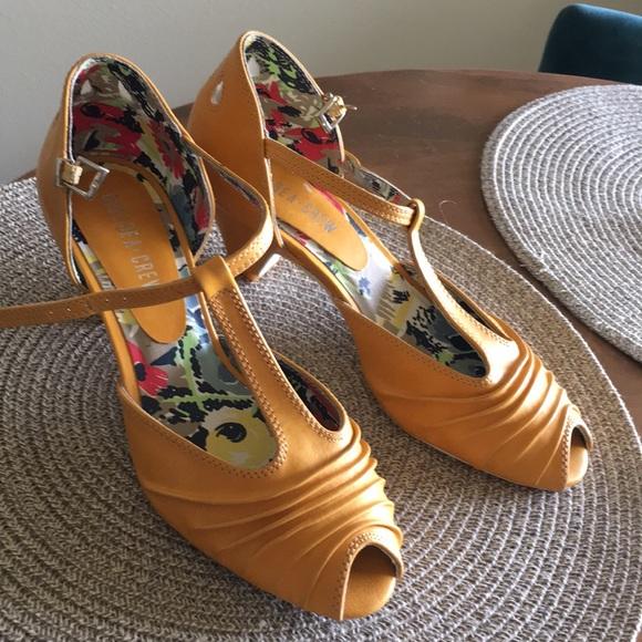 d5ce3bd81a38 chelsea crew Shoes - Chelsea Crew mustard yellow peep toe heels.
